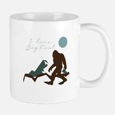 I Love Bigfoot Mugs