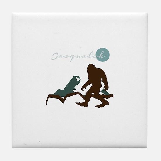 Sasquatch Mountain Tile Coaster