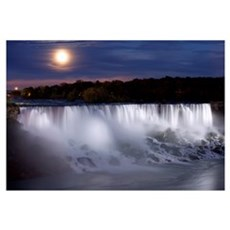 The American Falls At Night, Niagara Falls, New Yo Framed Print