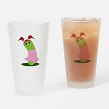 Girl Cucumber Drinking Glass