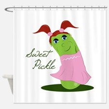 Sweet Pickle Shower Curtain