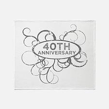 Cool 40 year anniversary Throw Blanket