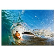 Hawaii, Maui, Makena - Big Beach, Boogie Boarder R Canvas Art