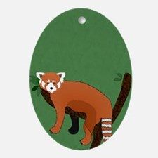 Red Panda Ornament (oval)
