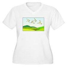 Flying Geese Plus Size T-Shirt