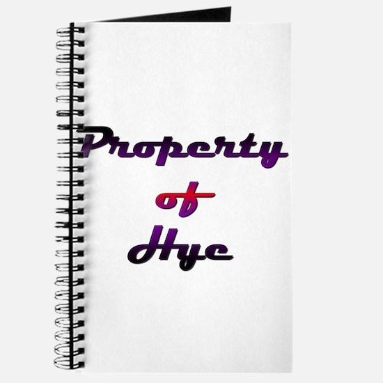 Property Of Hye Female Journal