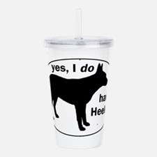 Funny Cattle dog Acrylic Double-wall Tumbler