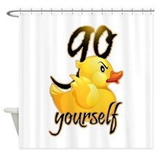Cute Attitude Shower Curtain