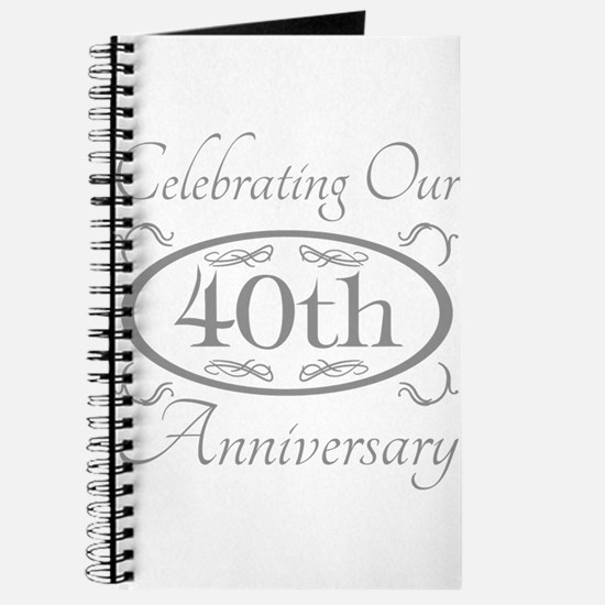 Funny 40th wedding anniversary Journal