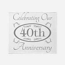 Funny 40 year anniversary Throw Blanket