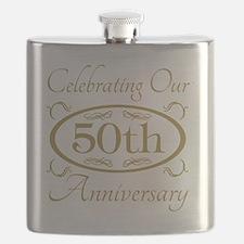 50th Wedding Anniversary Flask