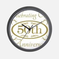 Cute 50th anniversary Wall Clock
