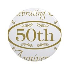 Cute 50th wedding anniversary Ornament (Round)
