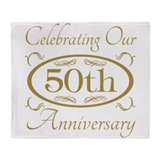 Cute 50th wedding anniversary Throw Blanket