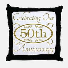 Cute 50th anniversary Throw Pillow
