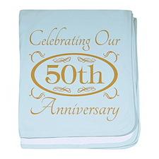 Cute 50th wedding anniversary baby blanket
