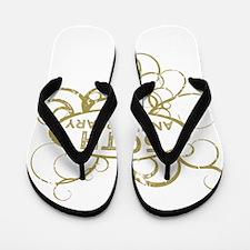 Cool 50th wedding anniversary Flip Flops