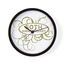 Cute 50 year anniversary Wall Clock