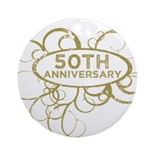 Unique 50th anniversary Ornament (Round)