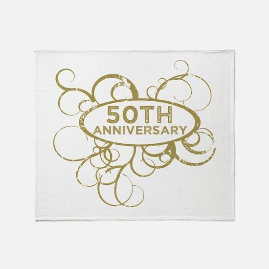 Unique 50th anniversary Throw Blanket