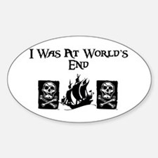 I was at World's End Oval Decal