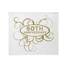 Unique 60th wedding anniversary Throw Blanket