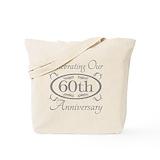 60th wedding anniversary Bags & Totes