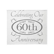Cute 60th wedding anniversary Throw Blanket