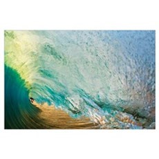 Hawaii, Maui, Makena Beach, View Of Distant Surfer Poster