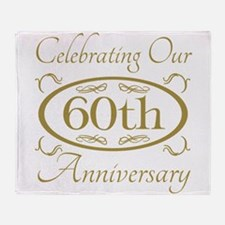 Funny 60th wedding anniversary Throw Blanket