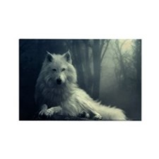 white wolf Magnets