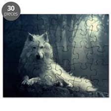 Cute White wolf Puzzle