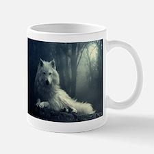 white wolf Mugs