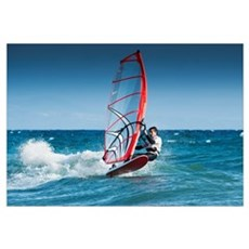 Windsurfing Off The Coast At Hotel Dos Mares, Tari Poster