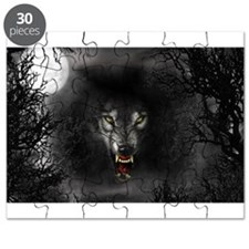 Cool Wolf and moon Puzzle