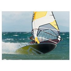 Windsurfing, Tarifa, Cadiz, Andalusia, Spain Poster