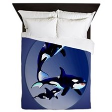 Killer Whale Family Queen Duvet
