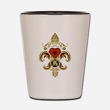 Monogram H Fleur-De-Lis BF Shot Glass
