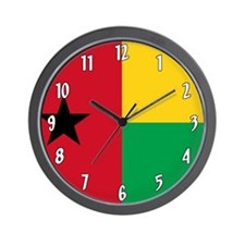 Flag of Guinea Bissau Wall Clock