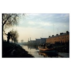Boat On Grand Canal, Dublin City, County Dublin, I Poster