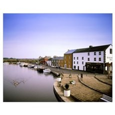 Cloondara, County Longford, Ireland, Town At The E Poster