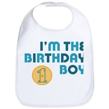 Birthday Boy 1 Year Old Bib