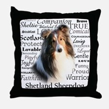 Sheltie Traits Throw Pillow