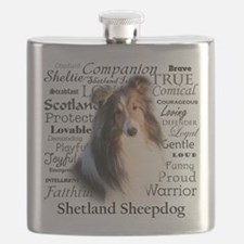 Sheltie Traits Flask