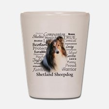 Sheltie Traits Shot Glass