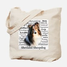 Sheltie Traits Tote Bag