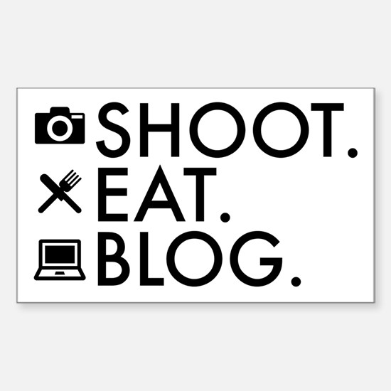 Shoot Eat Blog Design with Icons Decal