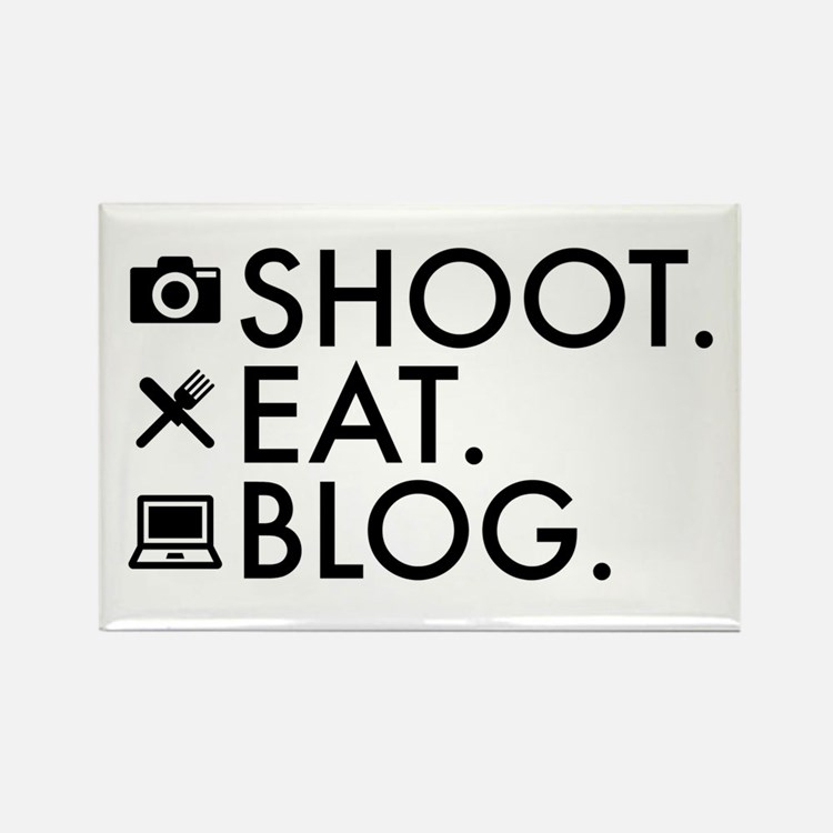 Shoot Eat Blog Design with Icons Magnets