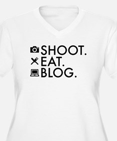 Shoot Eat Blog Design with Icons Plus Size T-Shirt