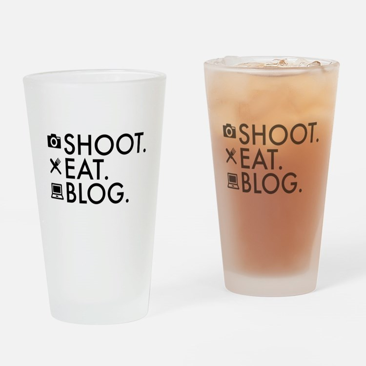 Cute Funny blogger Drinking Glass